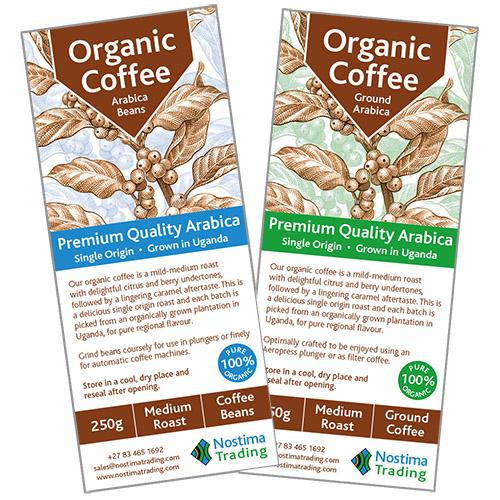 Coffee Label Design Nostima