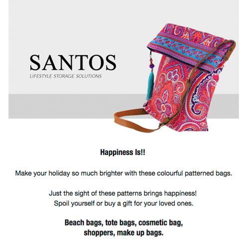 Email newsletter for Santos