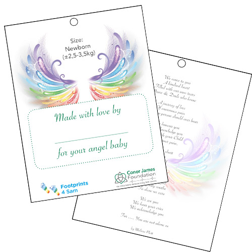 Angel wings dress tags