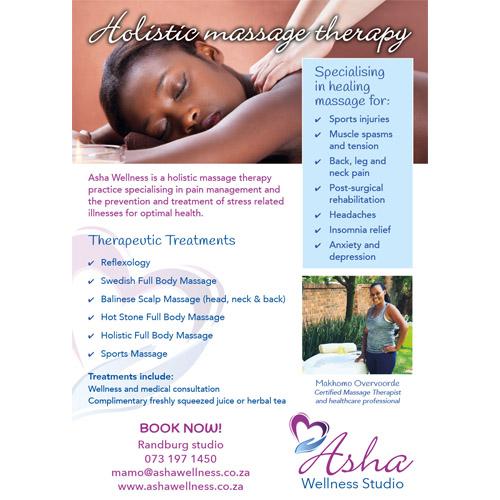 Asha Wellness flyer