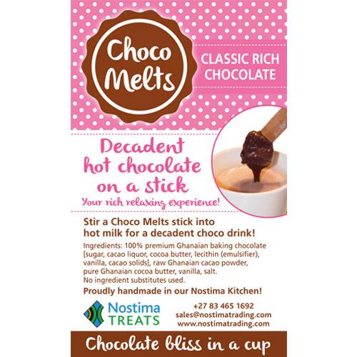 Choco melts label